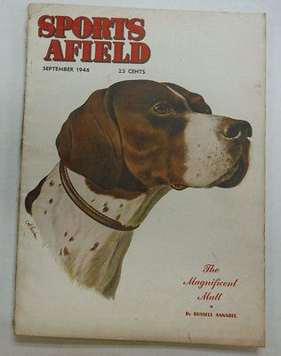Sports Afield Magazine The Magnificent Mutt September 1946 -Atherton cover
