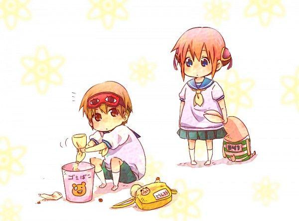 Tags: Gin Tama, Bear, Toy, Okita Sougo, Hair Buns, Kagura (Gin Tama)
