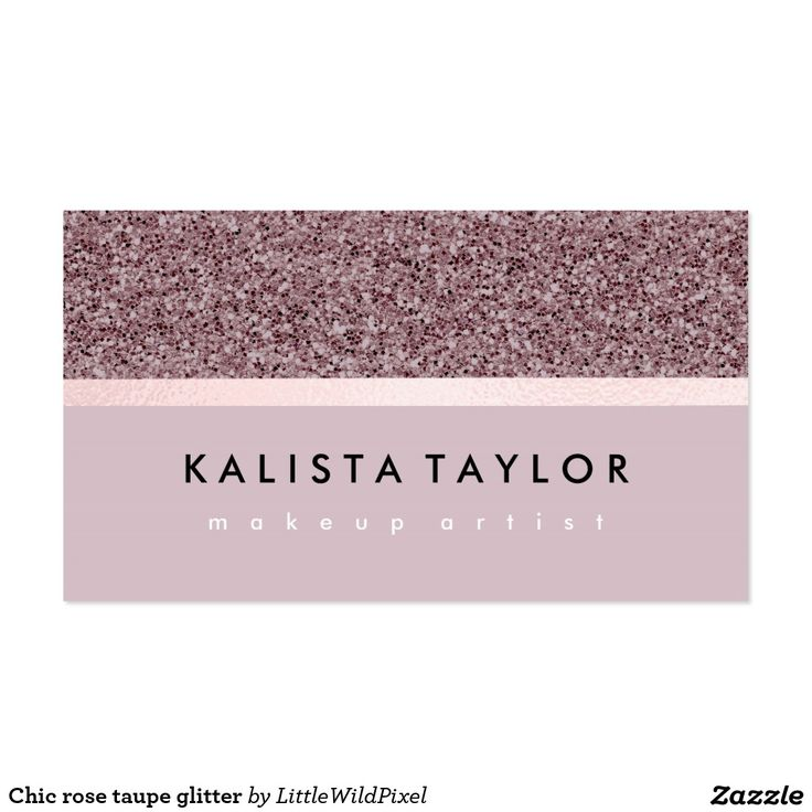 Chic rose taupe glitter pack of standard business cards