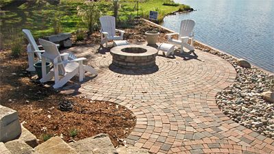 Photos Of Fire Pit Areas At The Lake Outdoor Hardscape