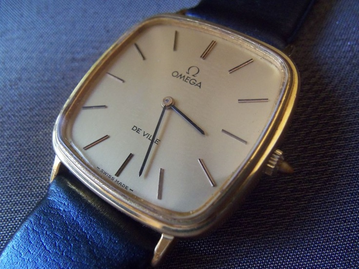 A vintage hand-wind Omega De Ville. My husband has a 1972 rare silver Omega which he loves