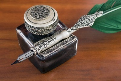 Antique ink Quill - tattoo inspiration