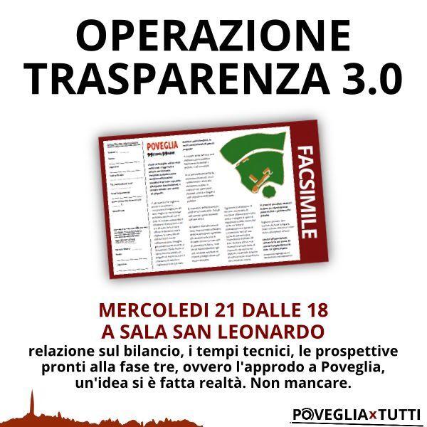Operazione trasparenza 3.0