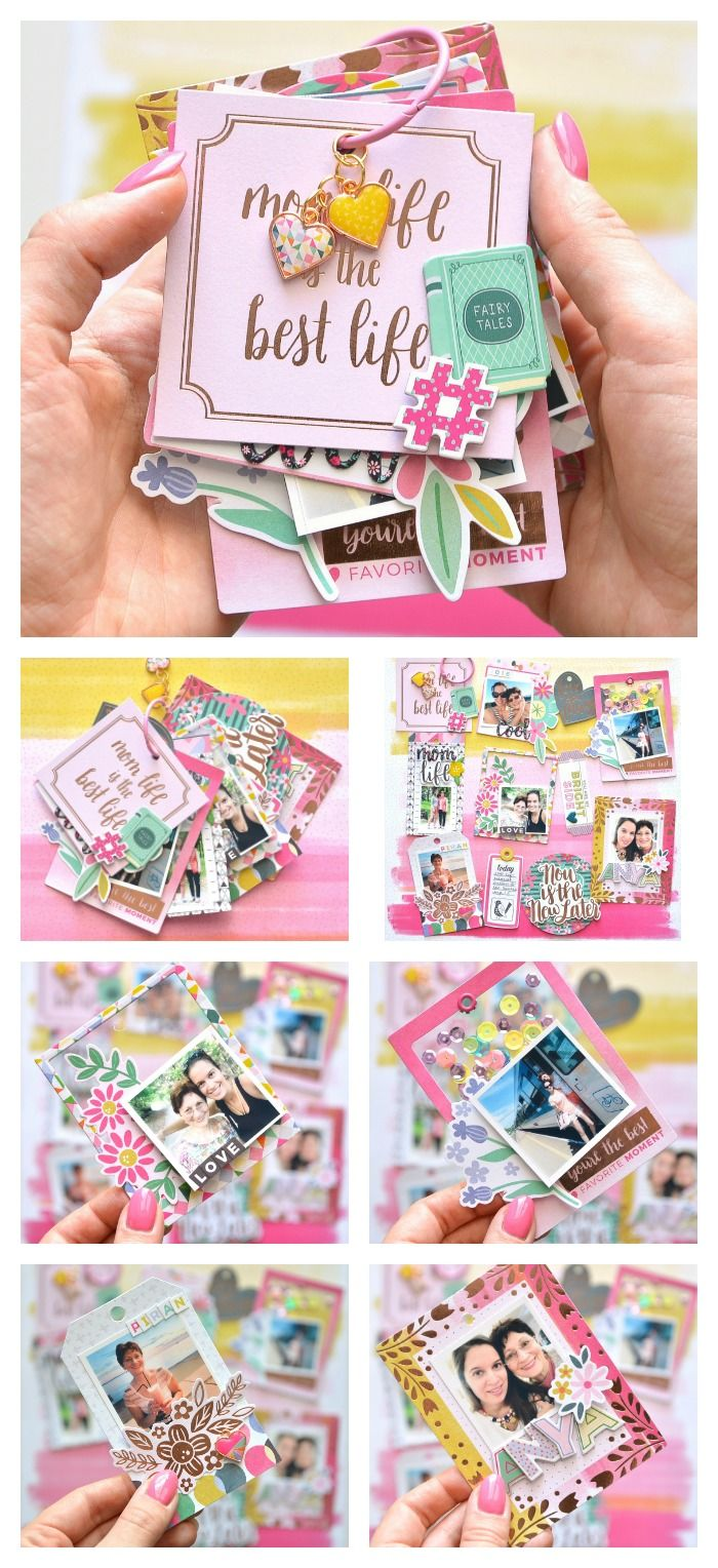 One ring mini album made with @pinkpaislee @paigeevans Oh My Heart collection. by Flora Monika Farkas #pinkpasilee #ppohmyheart #minialbum #minibook