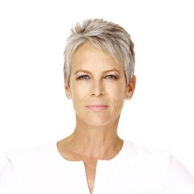 Jamie Lee Curtis. She is older and has a fantastic haircut. I love it.