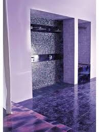 purple bathroom interior