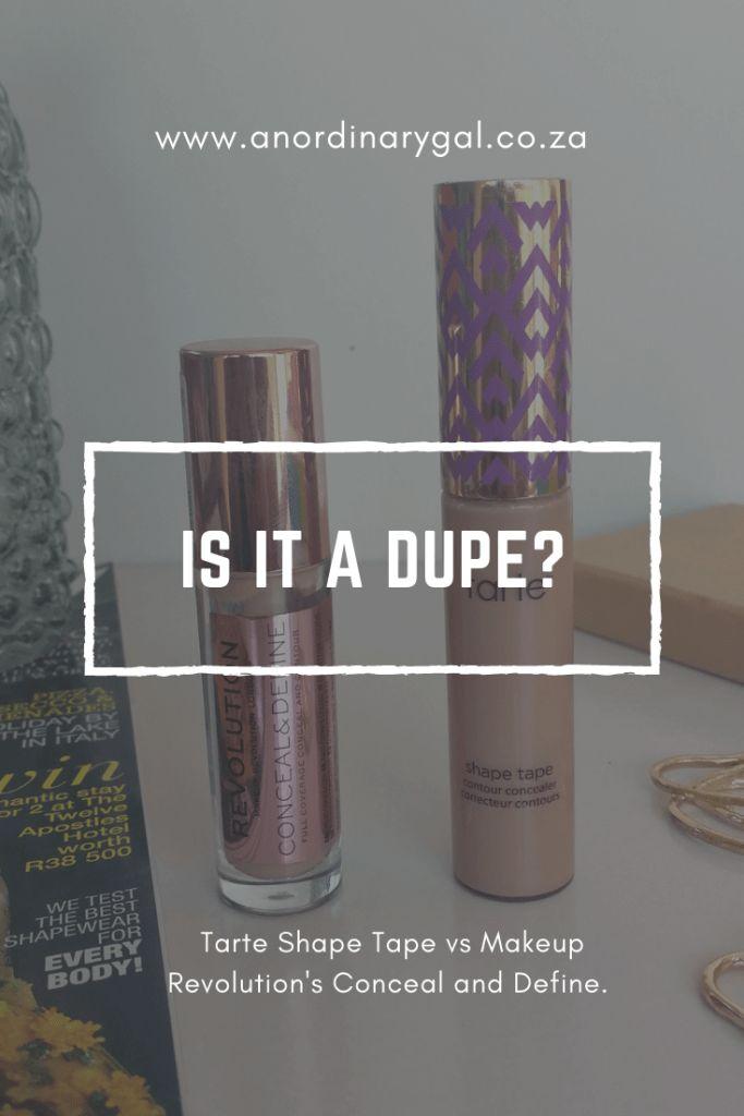 Tarte Shape Tape vs Revolution Concealer und Define Concealer {Ist es ein Betrüger? …   – An Ordinary Gal