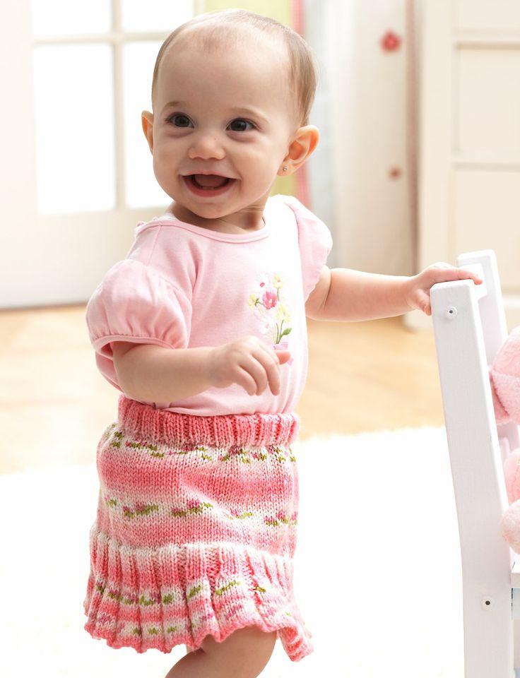 Knitting Pattern Baby Skirt : 282 best Baby & Little Girl Knitting Patterns and Ideas images on Pinterest