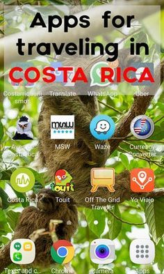 Visiting Costa Rica? Download these apps to help your travels! via @mytanfeet