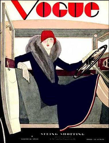 Vogue 1920's women drive