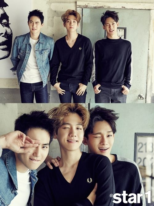 star1 Magazine, August Issue : Suho, Baekhyun, and Chen