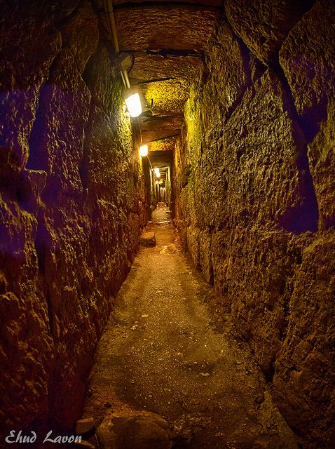 Herodian Tunnel . Jerusalem