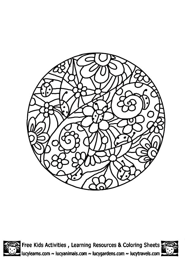 Detailed Ladybug Coloring Page,Lucy Learns Detailed Coloring Pages
