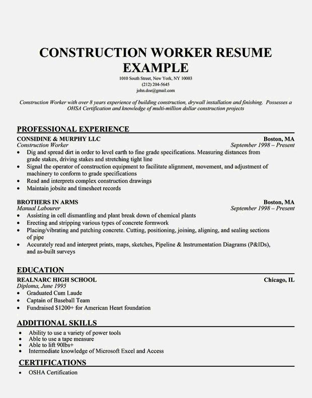 general laborer resume exles 28 images general labor Beautiful