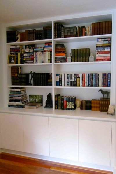 Cupboards below and Library bookshelves