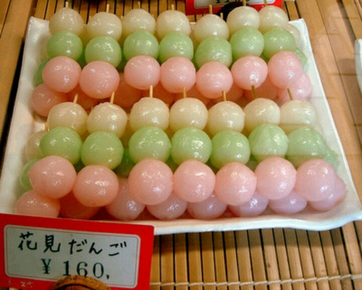 Eat dango in Japan