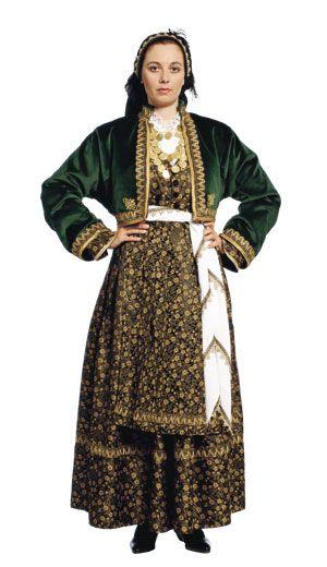 Veria Female Traditional Dance Costume