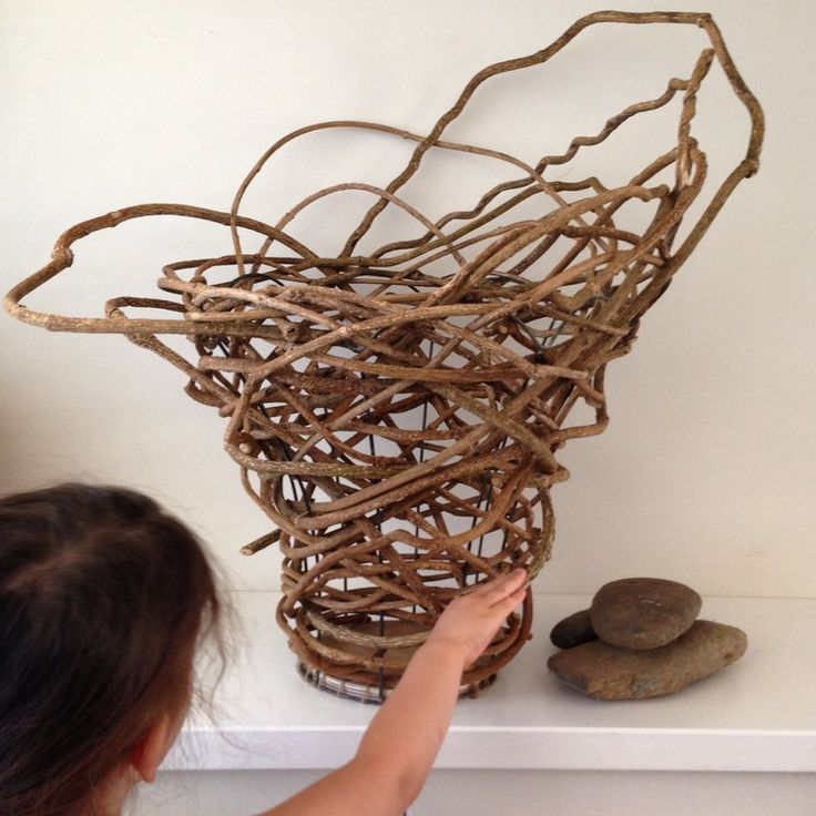 Basket Weaving Using Vines : Random weave vine basket baskets