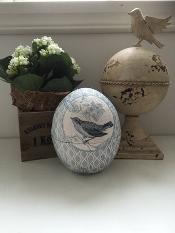 Easter egg decoupage..