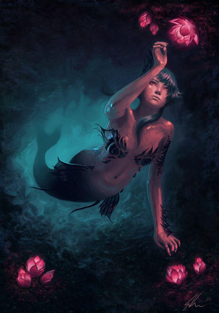 Cayah the Mermaid by *Viccolatte on deviantART