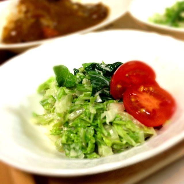 カリカリベーコンをのせても美味しいです。 - 2件のもぐもぐ - 塩麹とゴマドレッシングの白菜サラダ by KECOCO