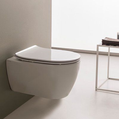 Scarabeo by Nameeks Moon Wall Mount Dual Flush Elongated Toilet Bowl