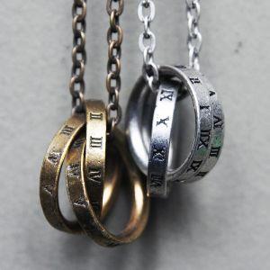 Real Vintage Designer 3 Roman Ring-Necklace 155