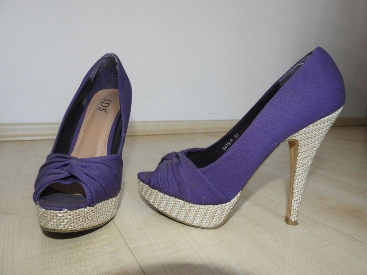 Purple Peeptoes Highheels SDS