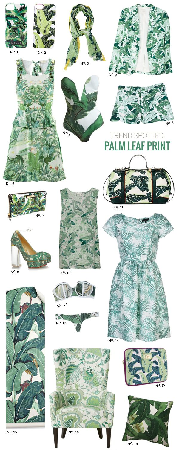 // Trend Spotted: Palm Leaf Print by Modern Eve- I'm not sure why I love this pattern so much!