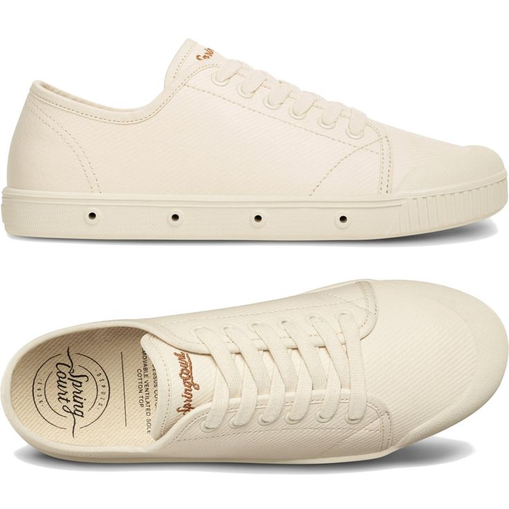 Shop The Spring Court Off White G2 Heavy Twill Plimsolls