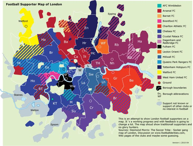 Awesome London Map Analyzes Soccer Fandom