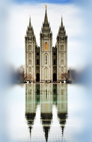 this site has several great lds pic. This one would be great with 2013 theme, baptism to temple, great places to stand.