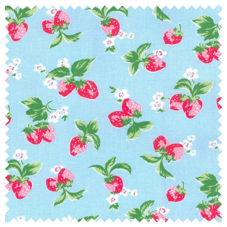 Cotton Fabric | Mini Strawberry Haberdashery Fabric | CathKidston