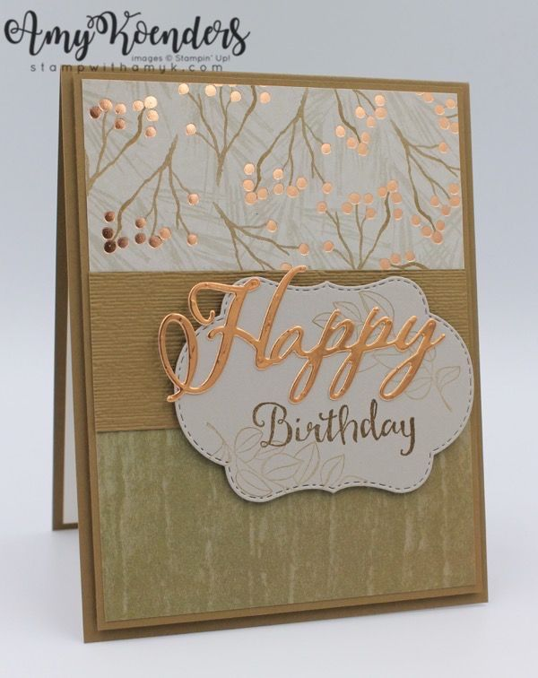 Stampin Up Blended Seasons Birthday Card