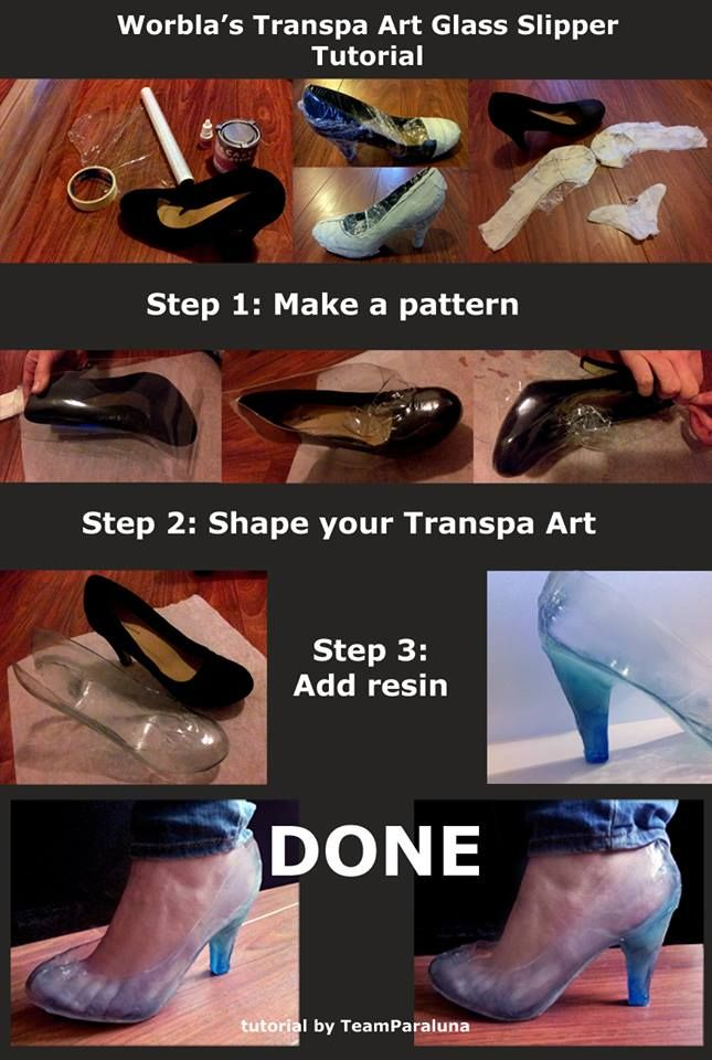 Using Transparent Worbla for shoes