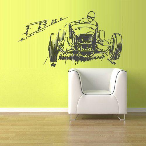 Wall Decal Vinyl Sticker Decals Hot Rod Car Auto Automobile Retro Rally Old Muscule (Z1486) StickersForLife http://www.amazon.com/dp/B00EJ9WOV6/ref=cm_sw_r_pi_dp_pWSevb0DECNJA