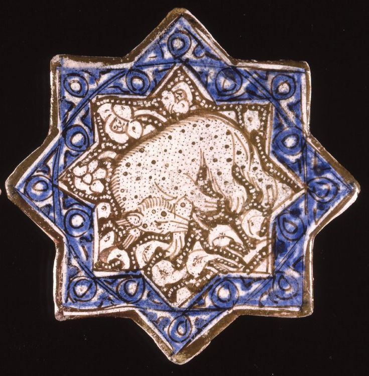 Eight-pointed star. Culture/period Ilkhanid dynasty  Date13thC(late)