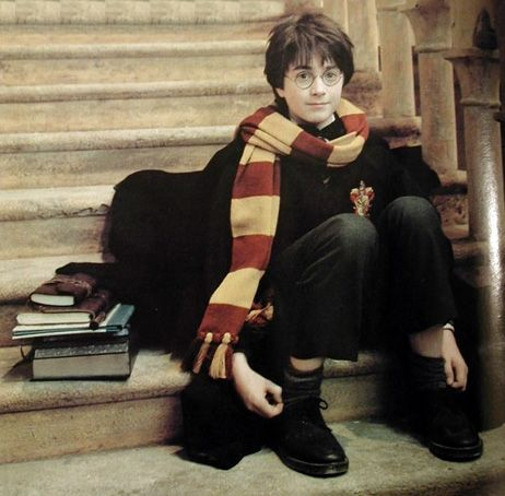 Precious little Dan on the set of the first movie. . . #harrypotter