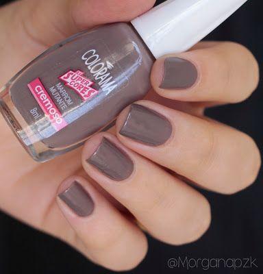 "Esmalte ""Marrom Mutante"" da Colorama | Brown Nails | Nail Polish | by @morganapzk"