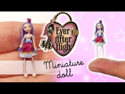 tutorial: miniature Ever After High Madeleine Hatter inspired doll
