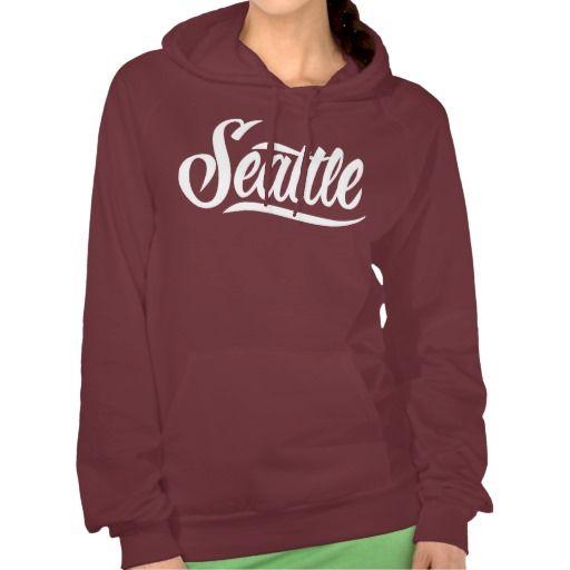 Seattle Womens Hoodie Hooded Pullover #Seattle #lettering #LetterHype