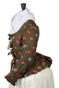 A LADY'S JACKET OF DARK BROWN PRINTED COTTON | FRENCH, 1790S | Costume, Textiles & Fans Auction | women's, Textiles & Costume | Christie's