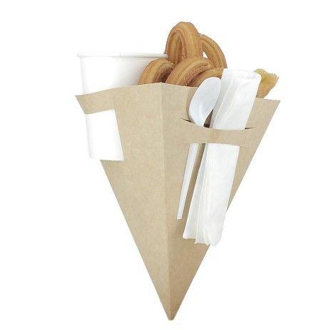Cucurucho de Carton para Churros con Chocolate - PuntoQpack