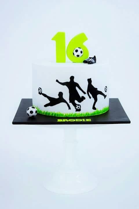 Football silhouette cake
