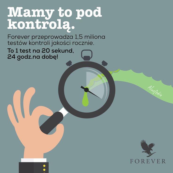 Forever przeprowadza 1,5 miliona kontroli jakości rocznie. To 1 test co 20 sekund, 24 godziny na dobę. Forever, na zawsze.