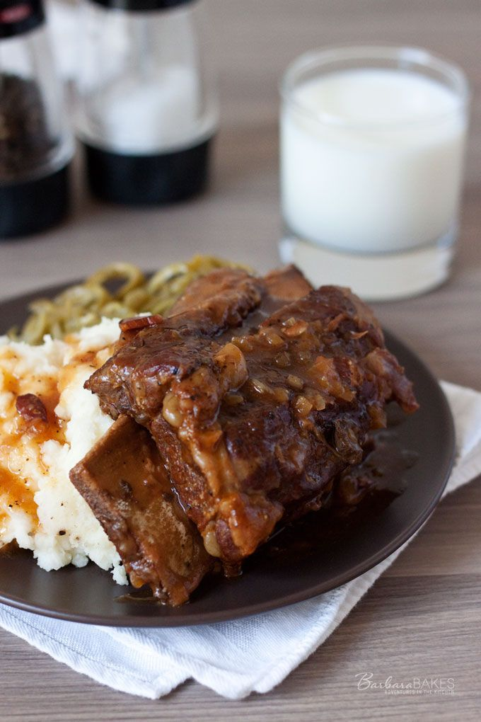 Luscious Bone-In Beef Short Ribs in the Pressure Cooker. Recipe via @Pressure Cooking Today #ribs #pressurecooker