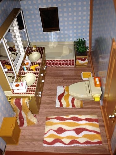 Vintage Tomy Smaller Homes And Gardens Dollhouse With
