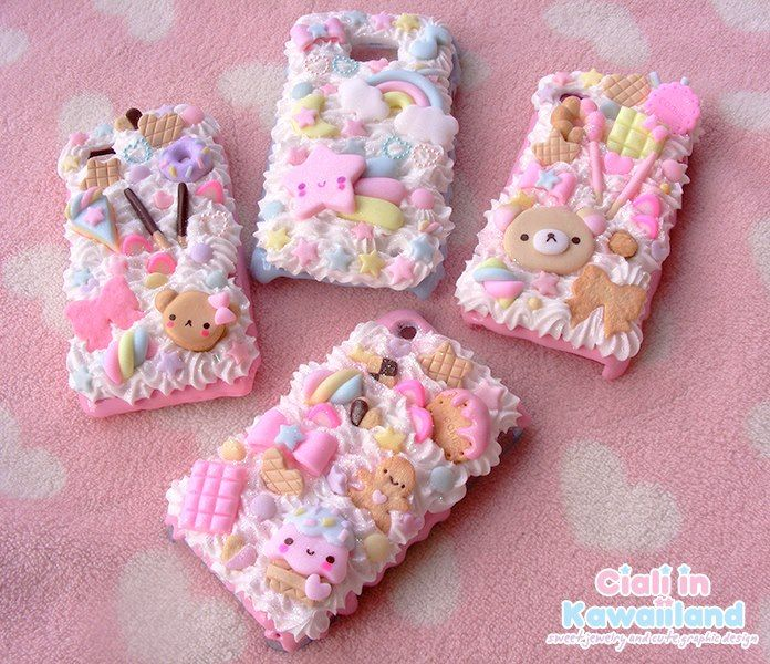 Decoden Case by Ciali in Kawaiiland available for all mobile phone!  ☆ Cute ☆ Kawaii ☆ D.I.Y. ☆ Japan ☆ Decoden ☆ Iphone ☆ Galaxy ☆ cover ☆ cellulare ☆ pastel ☆ pink ☆ marshmallow