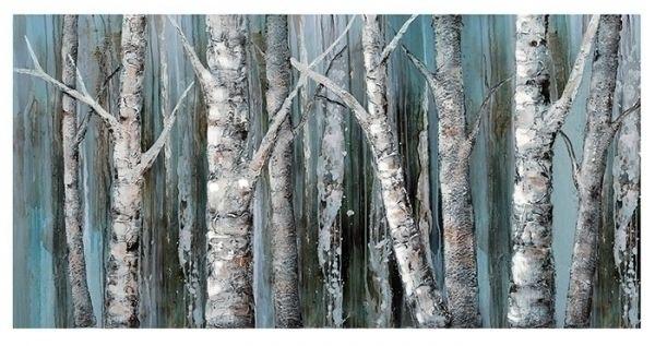 CANEVAS OASIS DE BOULEAU : Peinture à l'huile sur toile. Oasis de bouleau.