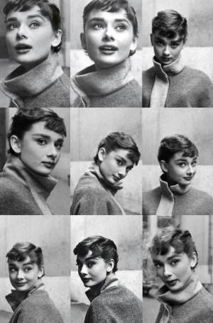 Audrey's different head shots.